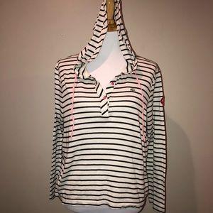 Lacoste Hooded Striped Long Sleeve Tee