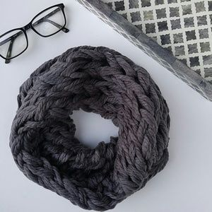 Accessories - One left! Cozy gray braided snood