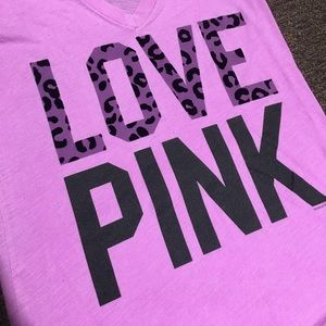 Pink Victoria secret tee size small