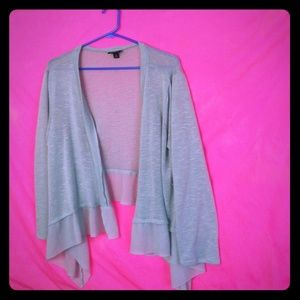 Torrid light teal cardigan