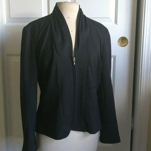 Black blazer zip up