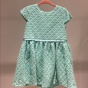 Carters girl's light turquoise lace dress 24 m