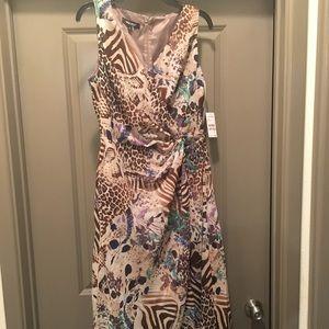 Nine West leopard and floral dress