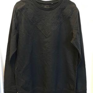 One the Byas men's black crew neck sweater