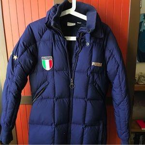 Puma FIGC ITALIA goose down stadium parka coat
