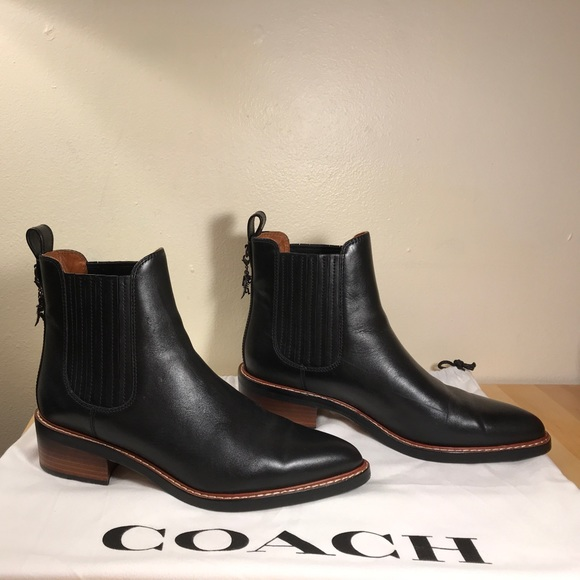Coach Leather Chelsea Booties cheap price wholesale discount professional outlet low shipping TE7RIN