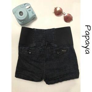 Papaya high waisted jean shorts-size medium