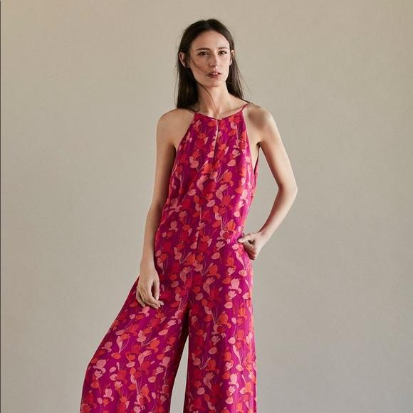 ed54cd8e0642 Long floral print jumpsuit