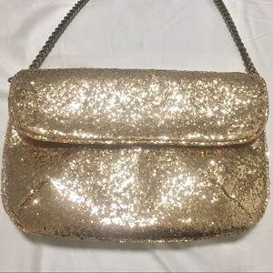 J.crew glitter clutch purse