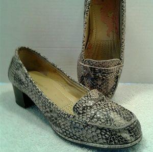 Easy Spirit Esmaeli Reptile Print Leather Loafers