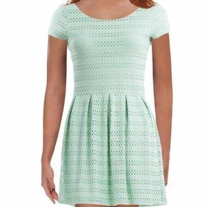 EIGHT SIXTY EYELET GREEN DRESS