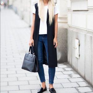 Zara Woman Long Black Vest