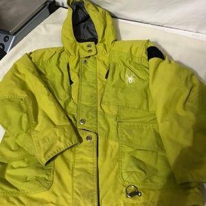 Other - Spydet Boys green lime color Hooded Zip up jacket