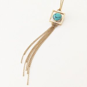 Express gold turquoise reversible ball necklace