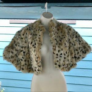 Jackets & Blazers - Vintage real Rabbit Fur Shrug