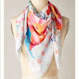 Emboldened silk scarf