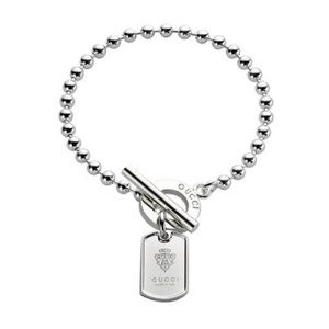 Gucci toggle dog tag boule chain bracelet