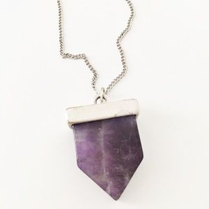 Express silver purple amethyst necklace