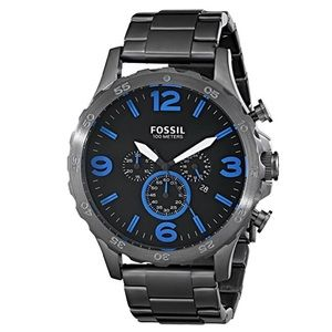 """Fossil """"Nate"""" Stainless Steel Watch - Smoke"""