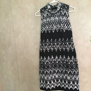 Muse black and white dress