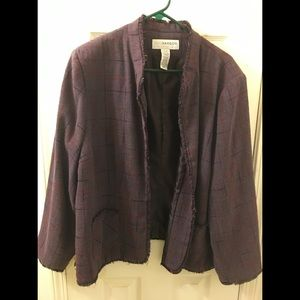 Sag Harbor purple tweed jacket 22W
