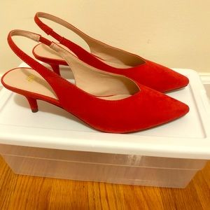 H&M Red Kitten Heel Size 7