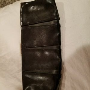 Express Faux Patent Leather Clutch