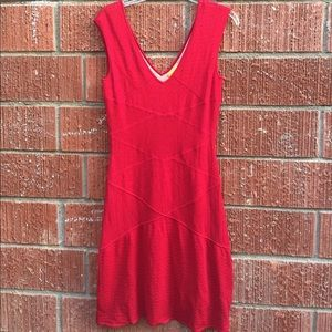 NWT Catherine Malandrino red dress Large