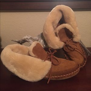 NWOT Lucky Brand fleece lined moccasin booties, 7