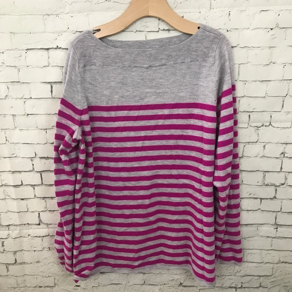 GAP - EUC Gap Gray and Purple Striped Sweater M from Abby's closet ...