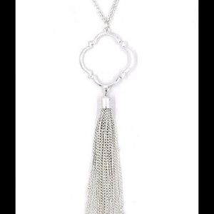 """Jewelry - Quatrefoil 30"""" Long Necklace with Tassel"""