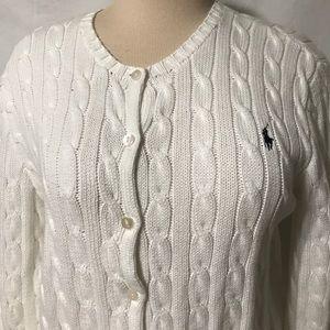 Sweaters - Ralph Lauren cardigan sweater women's  size L
