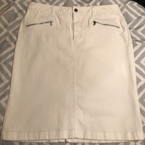 White denim Ralph Lauren skirt, Size 12