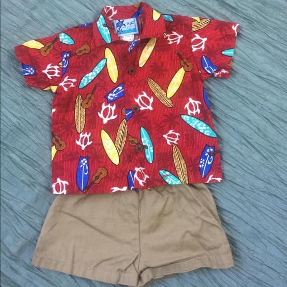 4a361dce Baby boy Hawaii shirt short set surf board 6m RJC.  M_59e166284e8d176d7700498a