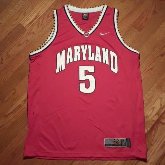 quality design 998e5 70f27 Retro Nike Elite Maryland Basketball Jersey