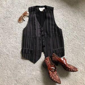 DOLCE & GABBANA vintage pin striped vest sz40 / L