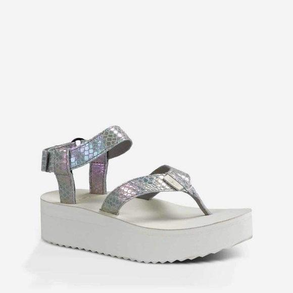 7a24d50adeb TEVA Flatform Iridescent Platform Sandal