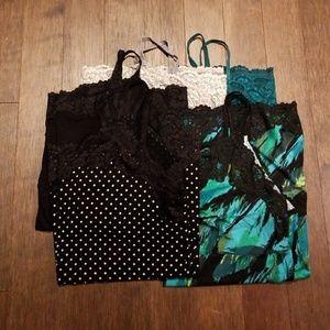 Bundle of 5 Lace-trimmed Camis