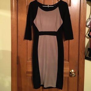 Alloy Color Block Back Zip Dress