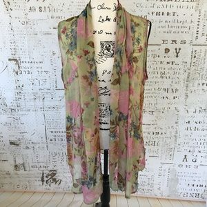 Coldwater Creek sheer scarf vest OS