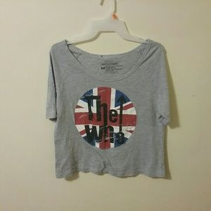 Live Nation The Who Flag Front Cropped Top Medium