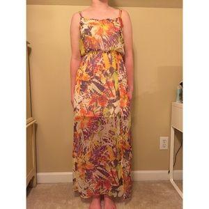 Jessica Simpson Multi-Colored Sheer Overlay Dress