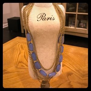 NORDSTROM Gold Chain & Lavender Stone Layered Neck