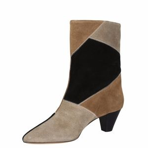 ISABEL MARANT Dexton Patch Velvet Suede Booties