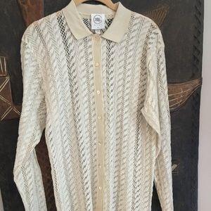 La Perla Ritmo Vtg Lace Shirt Dress
