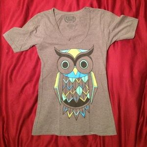 Grey owl fitted shirt Small