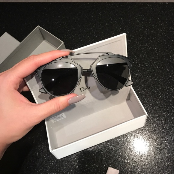 "aab6ed1a4d62 Dior ""So Real"" Matte Black   Grey Sunglasses"