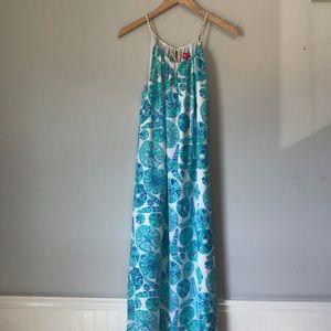 Lilly Pulitzer Target Blue Maxi Sea Urchin Dress