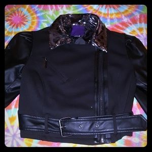 Diy pleather skull jacket