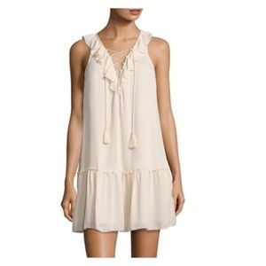 NWT Joie Blush Pink Felip Silk Lace Up Shift Dress